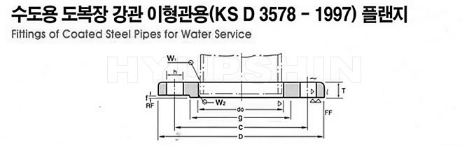 KS D3578 FLANGE DRAWINGS, JINAN HYUPSHIN FLANGES CO., LTD